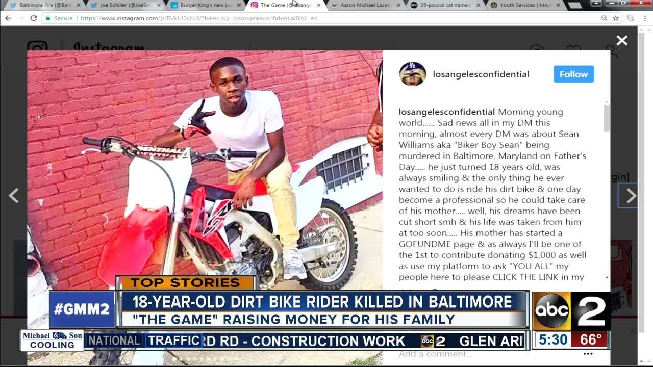 Rapper The Game Raising Money For Dirt Bike Rider Killed In