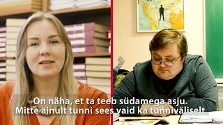 Maarja Evert räägib, mida ta arvab õpetaja Aive Kaldrast, kes osales programmis õpetaja ja juhendajana)