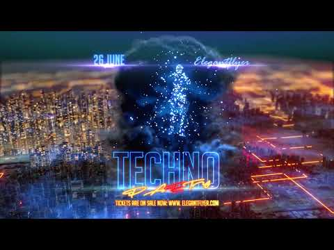Techno Party After Effects Template