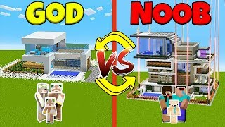 Minecraft Battle: NOOB vs GOD: SWAPPED SAFEST FAMILY HOUSE CHALLENGE / Animation