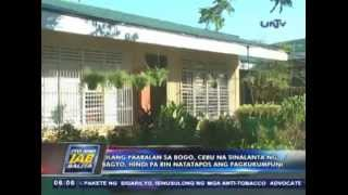 Ilang paaralan sa Bogo, Cebu na sinalanta ng bagyo, di pa rin natatapos kumpunihin (JUN022014)