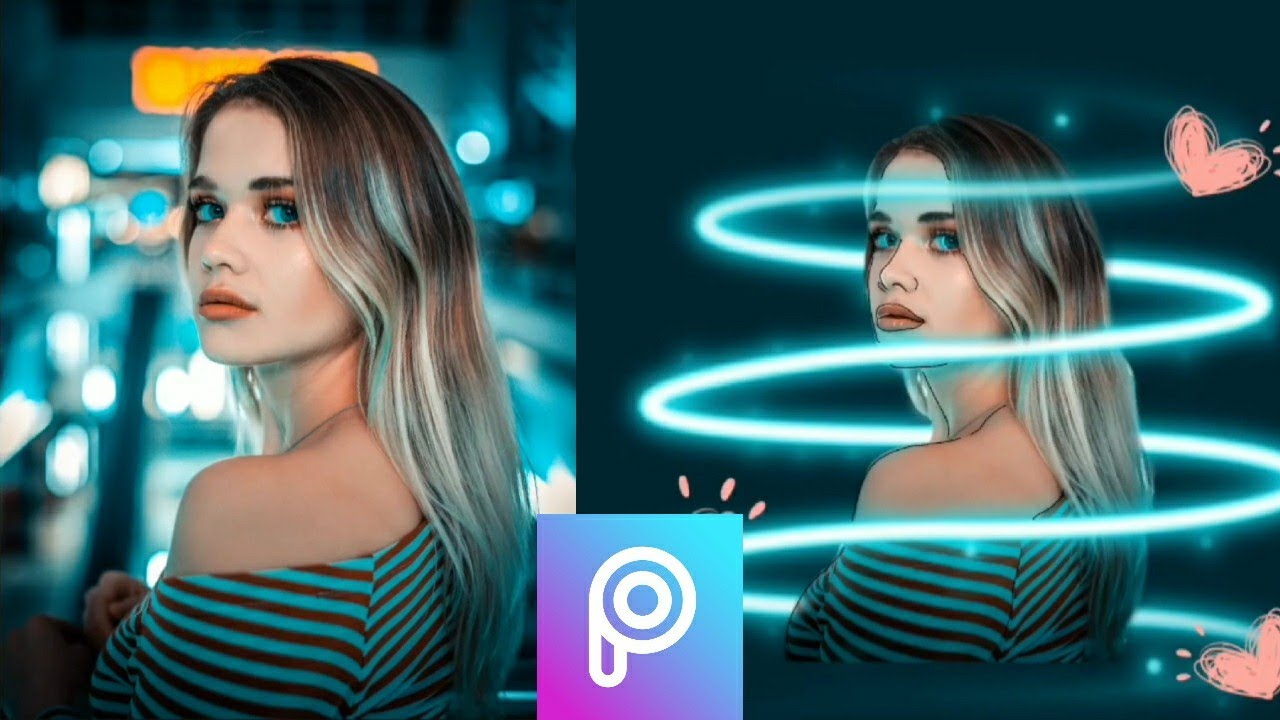 PICSART TUTORIAL. CARA EDIT FOTO NEON EFFECT. STEP BY STEP ON ANDROID