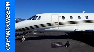 Flying the Cessna Citation, the Power Seat and a Cross Wind Landing, Pilot Vlog 128