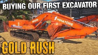 GOLD RUSH | Buying Our First Excavator - Episode 1