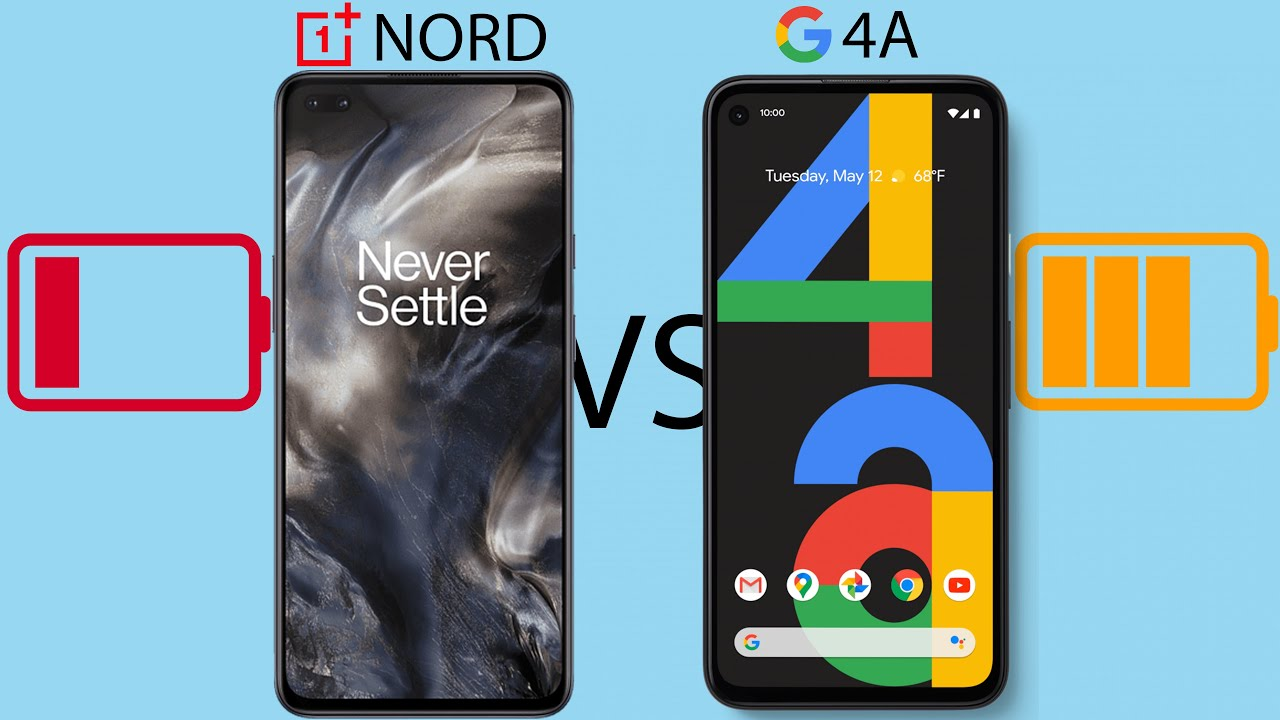 OnePlus Nord vs Pixel 4a - Battery Drain & Charging Test!