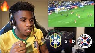 BRAZIL 3 - 0 PARAGUAY 🇧🇷⚽️ | Reaction