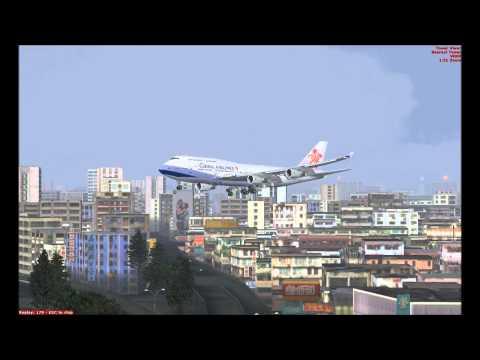 China Airline Crazy Landing At Kai Tak