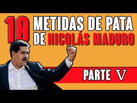 Las 10 metidas de pata de Nicolás Maduro (Parte V)