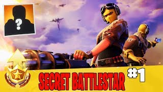 Secret Battle Star in Week 1 Location Guide in Fortnite // FREE Battle Pass Tier in Season 9