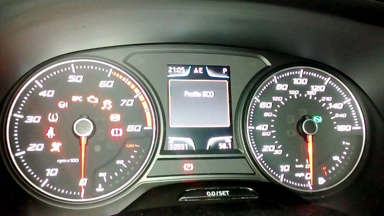 VCDS mod - Seat Leon FR Drive Profile on dash - YouTube