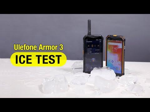 IP68/69K 10300 MAh Ulefone Armor 3/3T Ice Freeze Test 15 Hours!