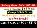 Railway Group D Cut off 2018 , Group D Safe Score , Passing Score , Group D Minimum Marks