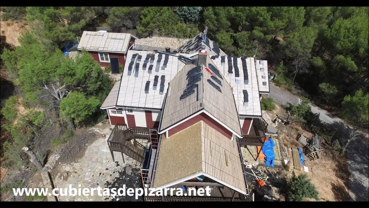 Cambiar de tejado de tegola por tejado de pizarra en casa for Cambiar tejado casa antigua