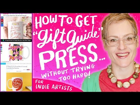 How To Get Gift Guide Press For Your Products For Artist Sellers - Etsy - Kathy Weller Art