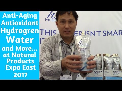 Anti Aging Antioxidant Hydrogen Water & More at Natural Products Expo East 2017