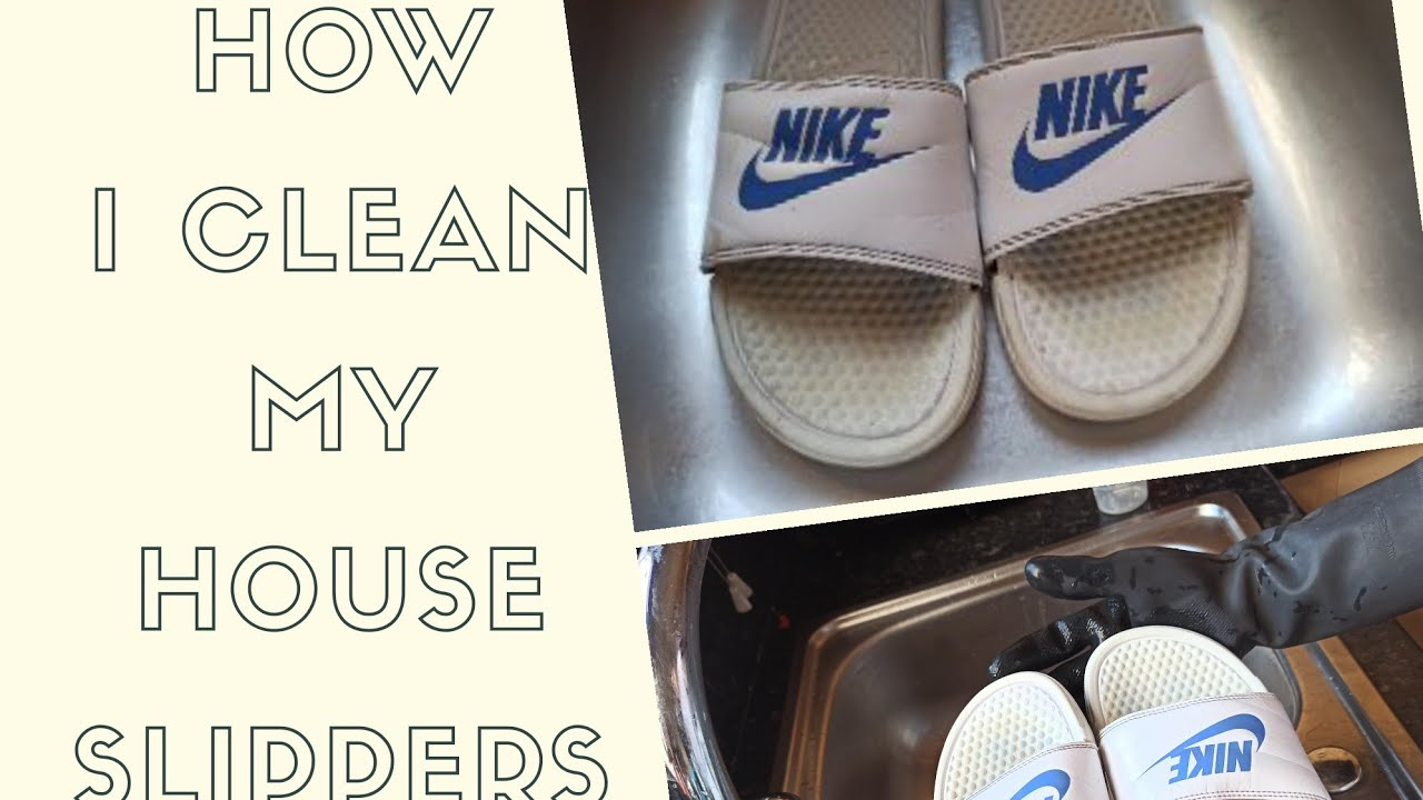 to clean white nike slides