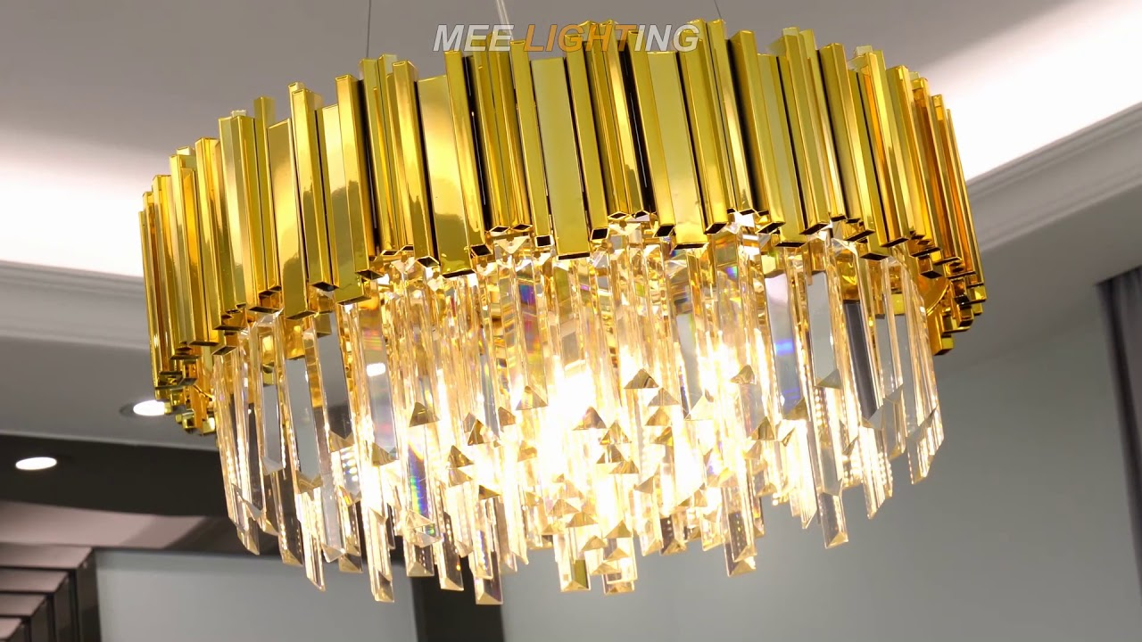 To Install A Crystal Gold Chandelier, How To Install A Crystal Chandelier