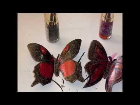 видео: Бабочки из пластиковых бутылок