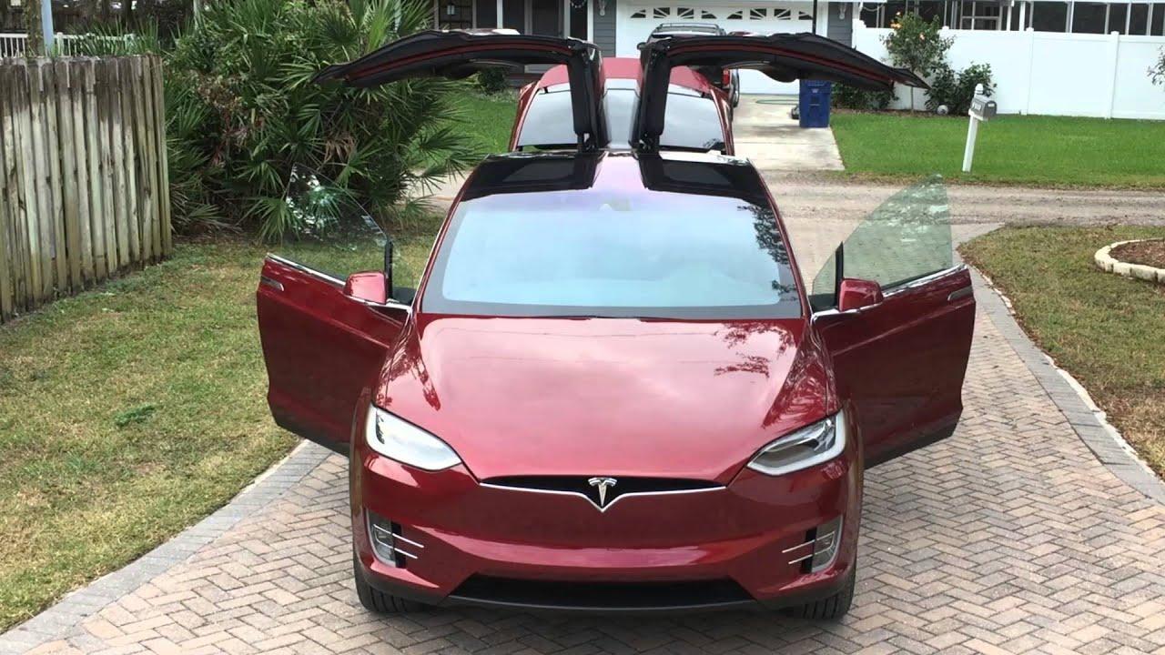 Tesla Model X Automatic Doors & Tesla Model X Automatic Doors - YouTube