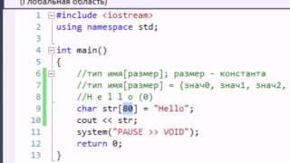 Обучение C++. Урок 14. Строки в стиле C