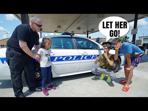 POLICE PRANK ON LITTLE SISTER!
