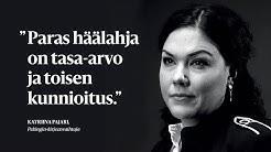 """Katriina Pajari: """"Paras häälahja on tasa-arvo ja kunnioitus."""""""