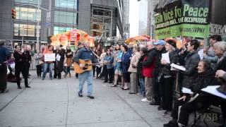 Jewish Voice For Peace - Chanukkah at Columbus Circle - 2015