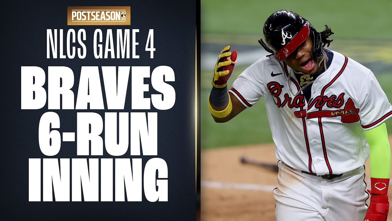 Braves rip off 6-run inning off Clayton Kershaw and Dodgers to take big lead in NLCS Game 4!