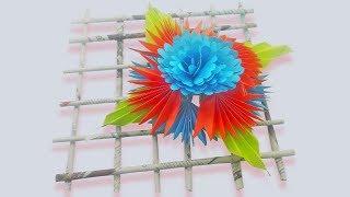 DIY : Paper Wall Decoration Door - Wall Hanging Craft Ideas - Hanging Flower