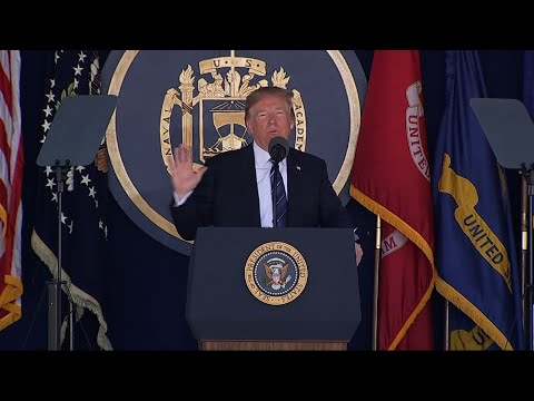 Trump Addresses US Naval Academy Graduation