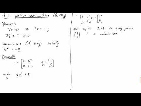 Lecture 18: Equality Constrained Quadratic Programming