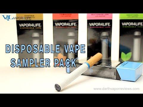V4L: Disposable E-Cigs | Vape Sampler Pack Review