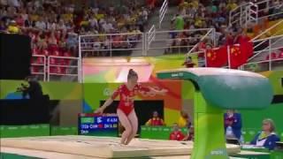 Tan Jiaxin 2016 Olympics QF VT