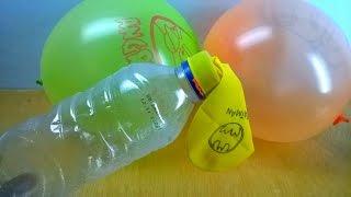 Cara Mudah Meniup Balon Dengan Botol Bekas - DIY