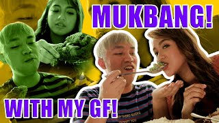 CRISPY PATA MUKBANG WITH GF + ENGLISH ONLY CHALLENGE (NOSEBLEED KAMI) | CHAD KINIS VLOGS