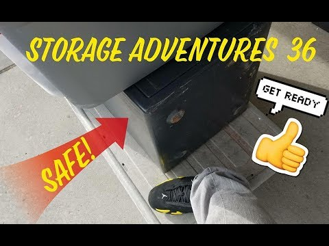 Storage Adventures 36: A SAFE! IPODS, IPHONES, LAPTOPS, NINTENDO 3DS, JORDANS AND MORE