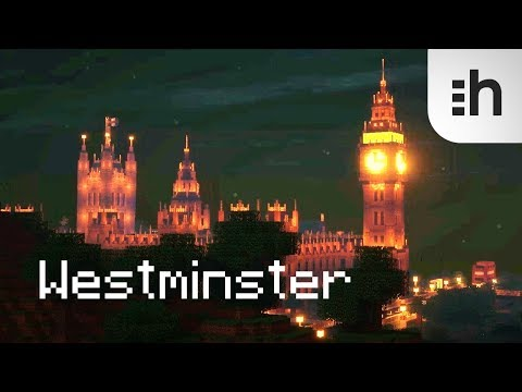 Minecraft Big Ben! +SEUS shaders! Palace of Westminster! by hologei