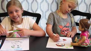 THROWBACK 3 MARKER CHALLENGE with Maddy and Elsa LOL Doll Challenge