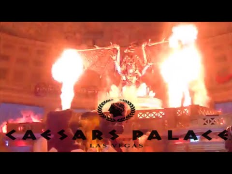 FULL Fall Of Atlantis Animatronic Fountain Show at Caesars Palace Forum Shops Las Vegas