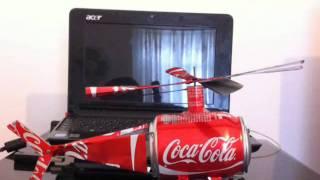 Helicóptero Cocacola Hojalata