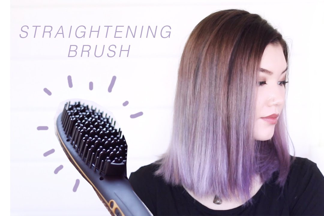 How To Use A Straightening Brush Demo Youtube