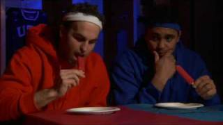 Chicago Blackhawks Popsicle Eating Contest - Kane, Toews, Ladd, Byfuglien