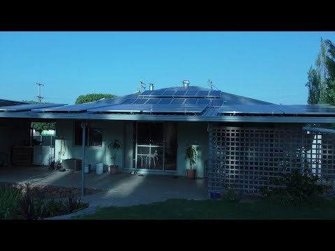 Solar power. Off grid house.  Australia