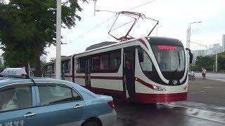 平壌市軌道電車(路面電車) 新型車両 試運転