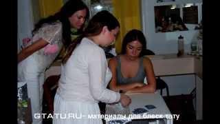 Мастер класс Школы Натальи Рязанцевой Блеск-тату в стиле Омбре (растушовка блестками)