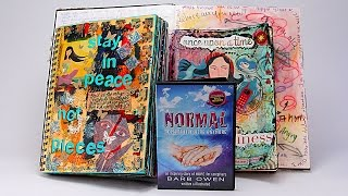 ustream rebroadcast audio book excerpt and art journal page with barb owen howtogetcreative com