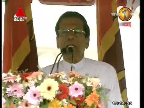 Full Ceremony of President Maithripala Sirisena addressing the nation - ජනාධිපති මෛත්රීපාල සිරිසේන