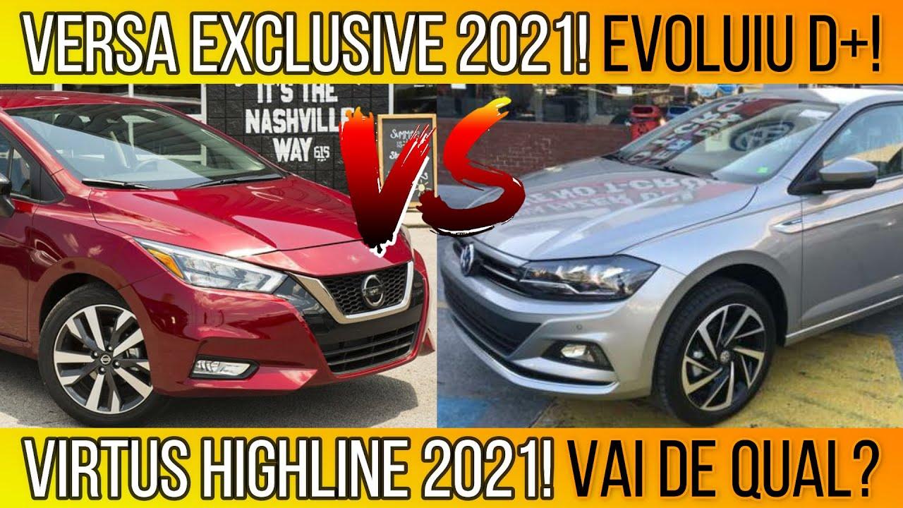Versa Exclusive 1.6 CVT 2021 Topo de Linha vs Virtus Highline 2021! 84 itens comparados!Vai de Qual?