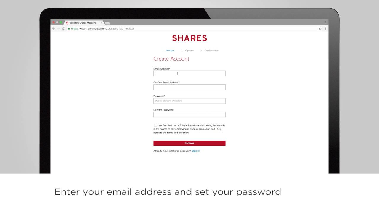 Registering for a free account with a subscriber ID