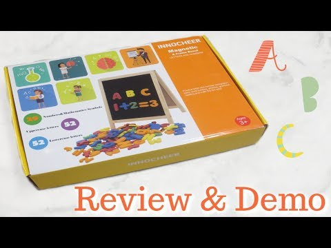 Kids Magnetic Letters And Numbers Board Review!
